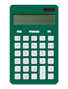 Small green calculator