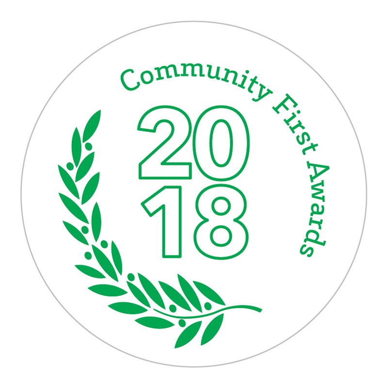2018 Community First Awards logo